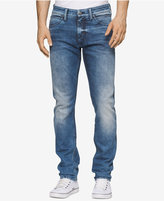 Calvin Klein Jeans Men's Sculpted Uneven Blue Skinny Fit Jeans