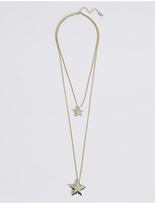 M&S Collection Star Layered Pendant Necklace