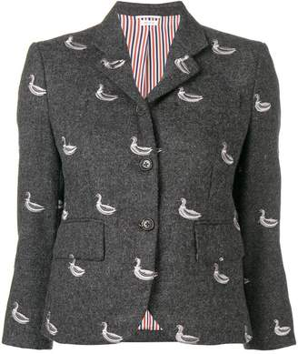 Thom Browne Duck Embroidered Classic Sport Coat