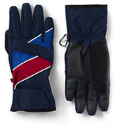 Classic Mens Chevron Ski Gloves-Dark Charcoal Heather Fairisle