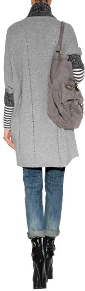 Dear Cashmere Wool Cocoon Cardigan in Combo
