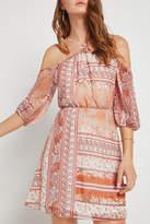 BCBGeneration Floral Cold Shoulder Dress