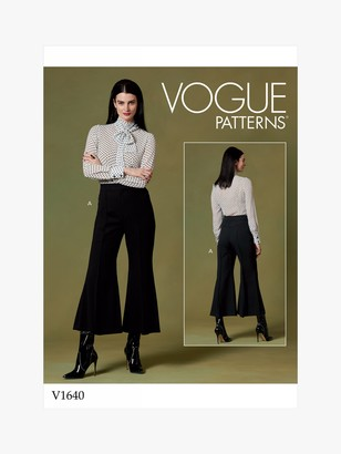Vogue Women's Flared Trousers Sewing Pattern, 1640
