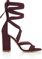 Barneys New York Women's Zea Ankle-Wrap Sandals-BURGUNDY