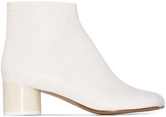 MM6 MAISON MARGIELA 45mm Square-Toe Ankle Boots