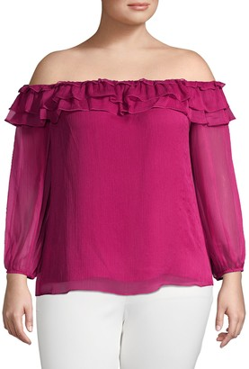 Vince Camuto Off-The-Shoulder Ruffle Top