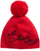 Kate Spade Women's All Dolled Up Pom Beanie - Red