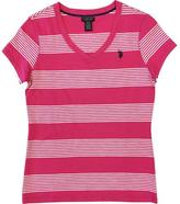 U.S. Polo Assn. Knit Stripe V-Neck Tee
