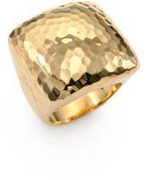 Roberto Coin Martellato 18K Yellow Gold Square Cocktail Ring