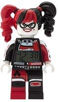 LEGO Batman Movie Harley Quinn Kids Minifigure Alarm Clock | red/black | plastic | 9.5 inches tall | LCD display | boy girl | official