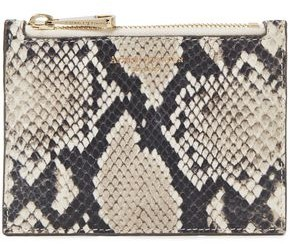 Aspinal of London Essential Snake-effect Leather Pouch