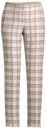 Lafayette 148 New York Manhattan Slim Plaid Pants