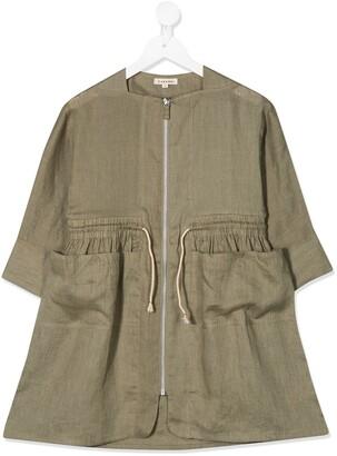 Caramel Paddington linen dress