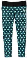 Nike Girls Green Polka Dot Leggings