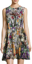 Catherine Malandrino Floral-Print Sleeveless Fit & Flare Dress, Multi