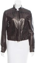 Fendi Lace-Up-Accented Leather Jacket