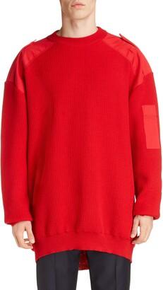 Balenciaga Oversize Crewneck Wool & Cotton Sweater