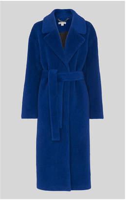 Whistles Electric Blue Wrap Coat