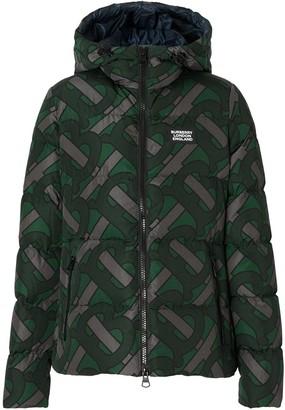 Burberry Monogram Print Puffer Jacket
