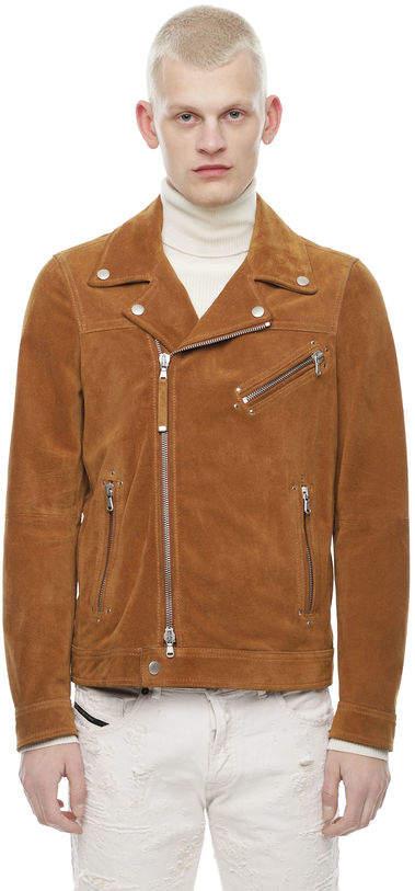 Diesel Black Gold Diesel Leather jackets BGPDY - Brown - 46