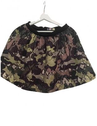 MSGM Khaki Polyester Skirts