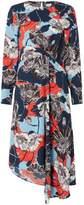 Linea Dina Poppy Printed Twist Front Dress