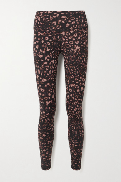 Varley Luna Leopard-print Stretch Leggings - Black