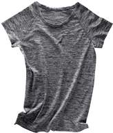 agiDeal Soft Round Neck Short Sleeveelange T-Shirt Gy Yoga Tees Sports Tops for Woen