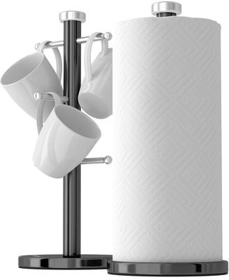 Morphy Richards Accents Mug Tree and Towel Pole Set Black