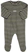 Amelia STRIPED COTTON-BLEND FOOTED PLAYSUIT
