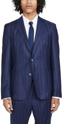 HUGO BOSS Flannel Stripe Patch Pocket Sport Coat