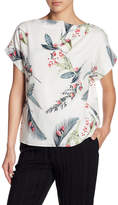 Cacharel Printed Silk Blend Boatneck Blouse