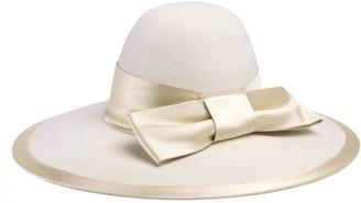 Gucci Felt wide brim hat with satin ribbon