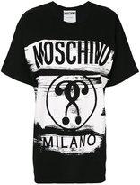 Moschino logo print boxy T-shirt - women - Cotton - XXS