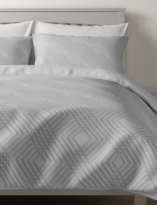 Marks and Spencer Pure Cotton Geometric Sateen Bedding Set