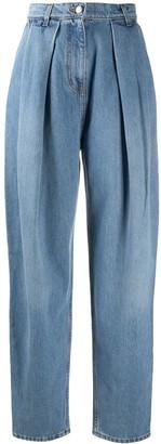 Magda Butrym Stonewashed Balloon-Leg Denim Jeans