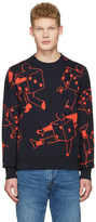 Paul Smith Navy Dice Pullover
