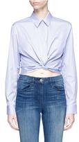 Alexander Wang Twist front cropped short sleeve shirt