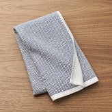 Crate & Barrel Blue Textured Terry Dish Towel