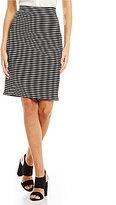 CeCe Stripe Crepe Knit Pencil Skirt