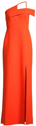BCBGMAXAZRIA Eva Asymmetric Column Dress