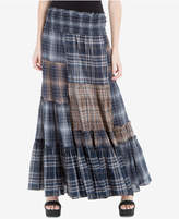 Max Studio London Plaid Patchwork Maxi Skirt, Created for Macy's