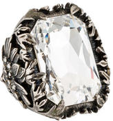 Alexander McQueen Crystal Cocktail Ring