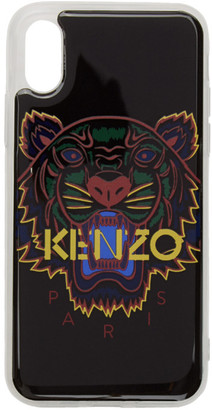 Kenzo Black 3D Tiger Logo iPhone X/XS Case