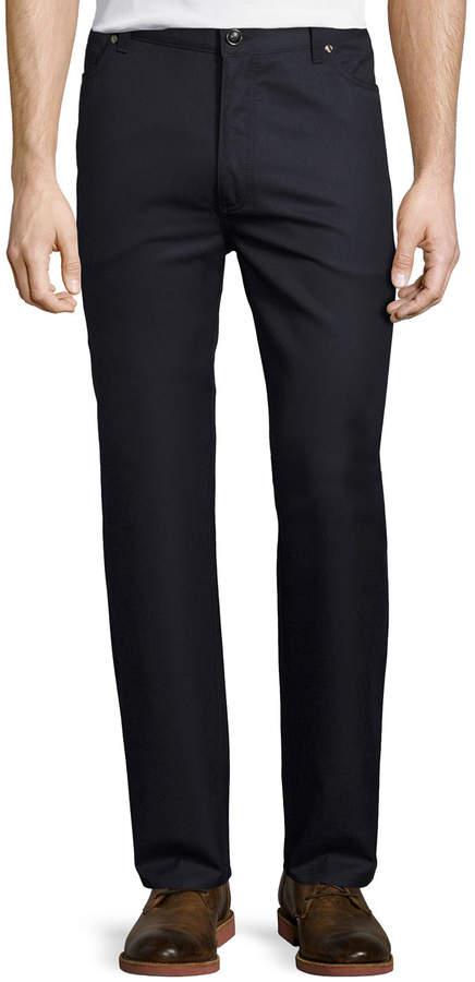 Ermenegildo Zegna Wool-Cotton Five-Pocket Pants