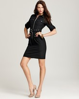 MICHAEL Michael Kors Roll Sleeve Belted Shirt Dress