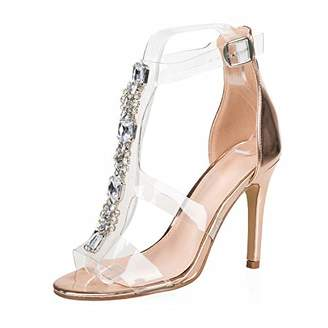 AIIT Women's Stiletto High Heel Sandal Pump Shoe size5