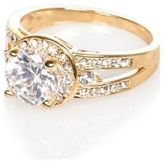 River Island Womens Gold tone crystal embellished ring