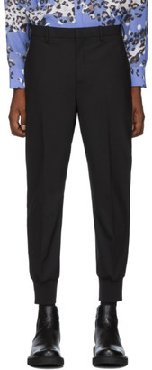 Neil Barrett Black Gabardine Travel Trousers
