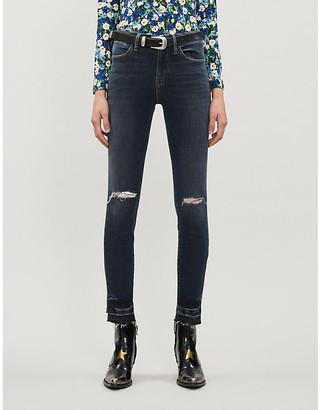 Frame Le High Skinny ripped high-rise skinny jeans